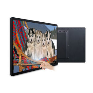 Chinese fabriek 32 43 inch touch screen android lcd digital signage 12v pc monitor met av-ingang