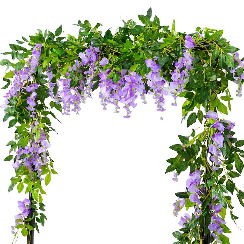 2020 Amazon Hot Selling 180CM Artificial Wisteria Vine Flower Rattan Wall Hanging Decor Wedding Flower Vines