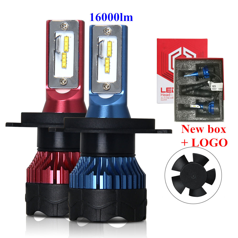 2020 New K5 Perfect Cutline Super Bright CSP 8000LM H4 H7 Led Headlight Bulbs for Auto Cars