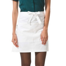 CHECKEDOUT unisex kitchen waiter work white waist half apron