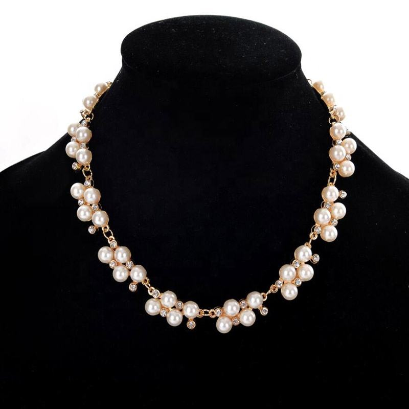 Hot Sale Simulated Pearl Jewelry Trendy Women Necklaces Pendants Short Chokers