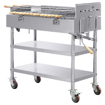 Grilled chicken machine used commercial rotisserie bbq grills for sale/large charcoal grills