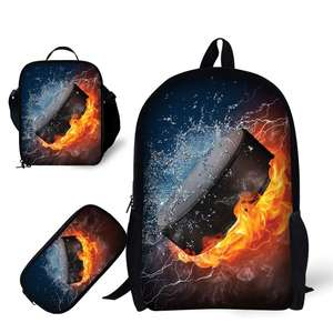 2020 Wholesale School 3PCS Set Customized Printing Backpack School Bookbag