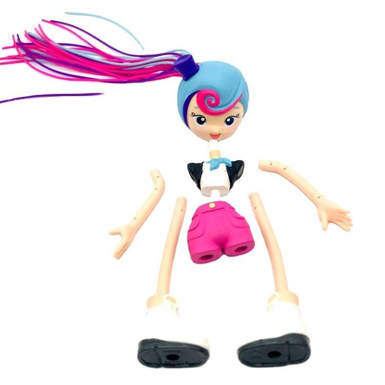 カスタムoemフィギュアメーカーdiyおもちゃ3dプリント取り外し可能な長い髪の女の子モデルアクションフィギュア