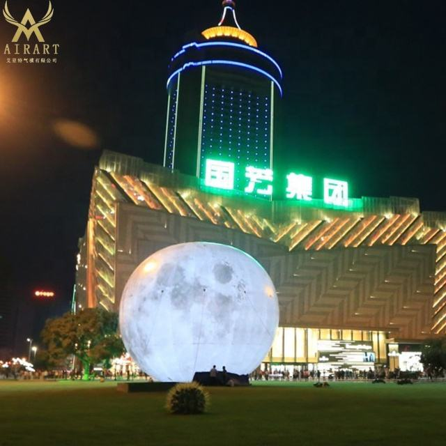 Giant Led inflatable moon ball, inflatable moon globe for decoration