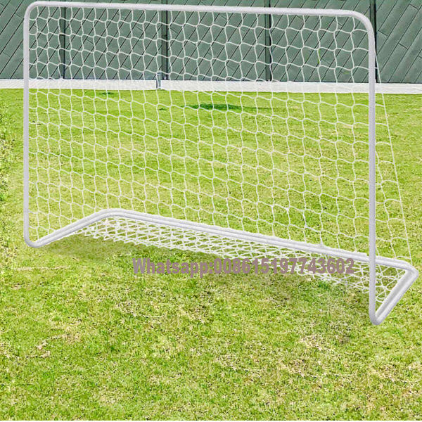 Football Goal with Net Steel Ground Soccer Target Sport Equipment Training