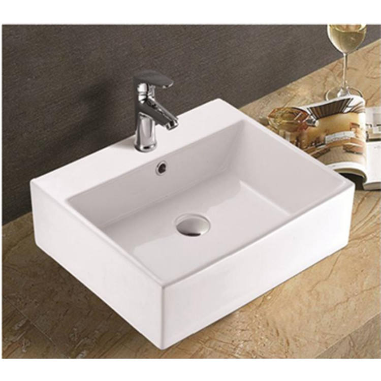 Above Counter White Single Bathroom Vanity Sink Basin