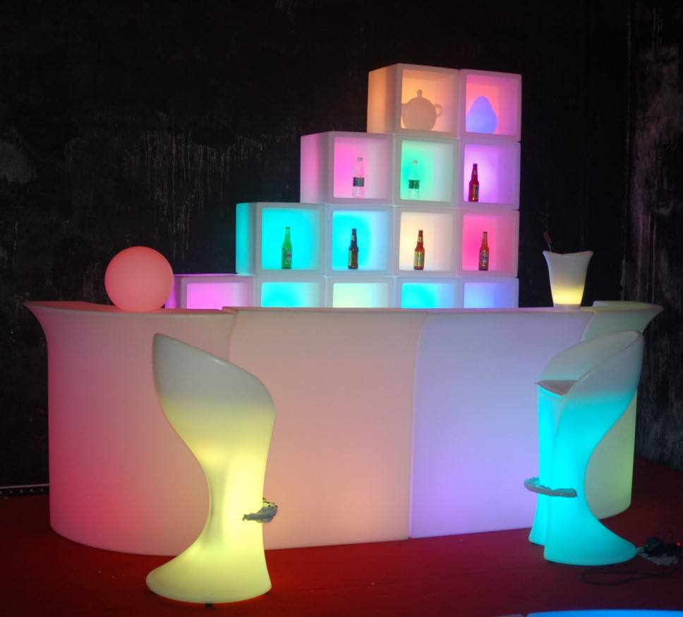 Glow Led Mobile Bar/Led Bar Counter/Portable Bar Counter