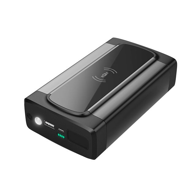 16000mAh Portable Power Bank Car JumpStarter 12V with Wireless Charger and LED Light Auto Battery Booster Pack