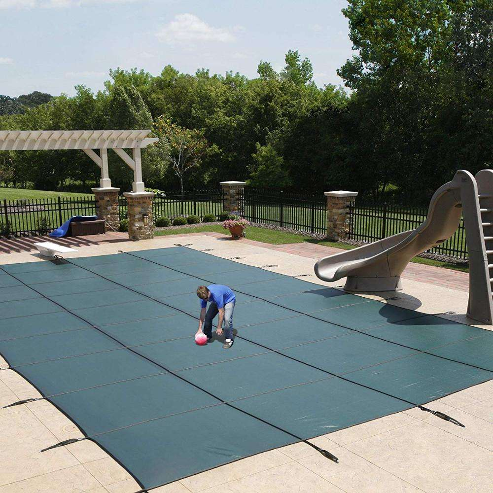 Swimming pool cover safety swimming pool cover heavy duty for avoiding kid/pet falling