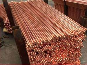 Hot Jual Copper Bonded-Earth Rod Murni Tembaga Earth Rod untuk Bumi Sistem