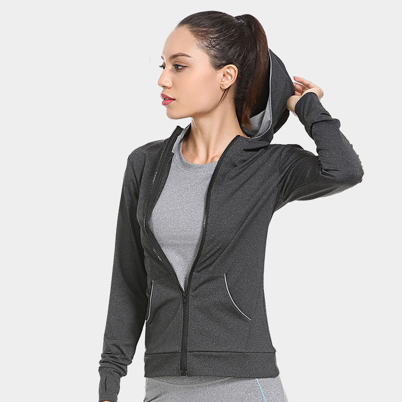Custom Activewear Women Zip Up Sport Jacket Women Running Cool Sport Coats With Pocket