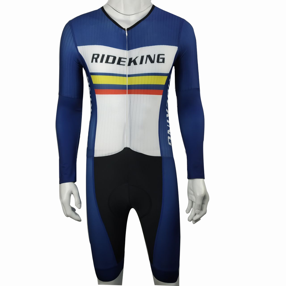 RideKing Sportwearing טריאתלון חליפת אנטי Uv ארוך שרוול Triatlon Indossa
