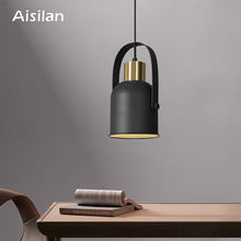 Nordic golden vintage modern design ceiling led home restaurant bedside chandelier E27 pendant light lamps