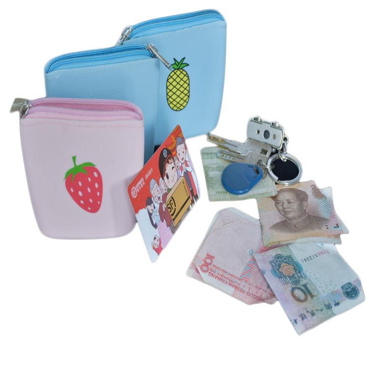 Unicorn In Rainbow Sky Custom Zip Handbag Coin Purse Change Cash Wallet