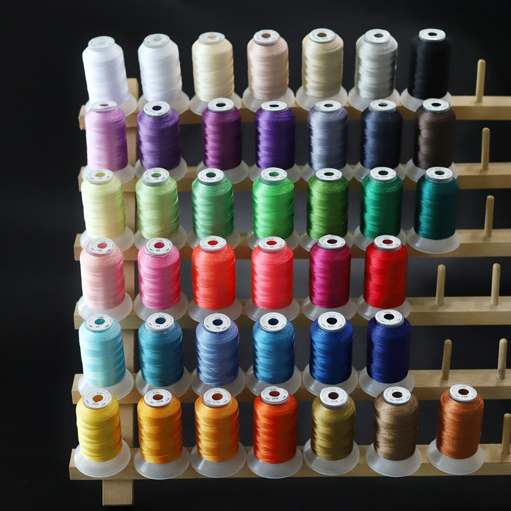 500 Meters each spool 40 Brother Colors 120D/2 Polyester Machine Embroidery Thread for Singer, Brother, Janome Home Embroidery