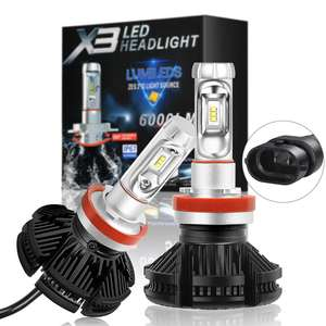 3500K 6000K 8000K Auto part H7 H4 Led,High Low Beam 9005 9006 H11 Car H7 H4 X3 Led car Headlight