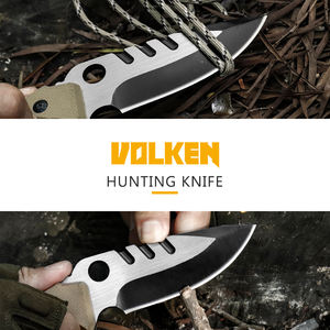 Factory direct sale sharp tactical knife jungle adventure wild survival knife G10 non-slip handle