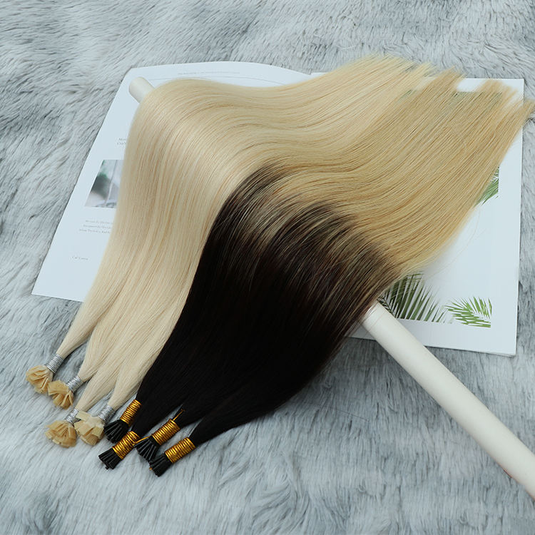 Wholesale Hot Sale Italian Keratin Pre Bonded Hair Extensions Remy Double Drawn u Tip Flat Tip i Tip Hair Extension