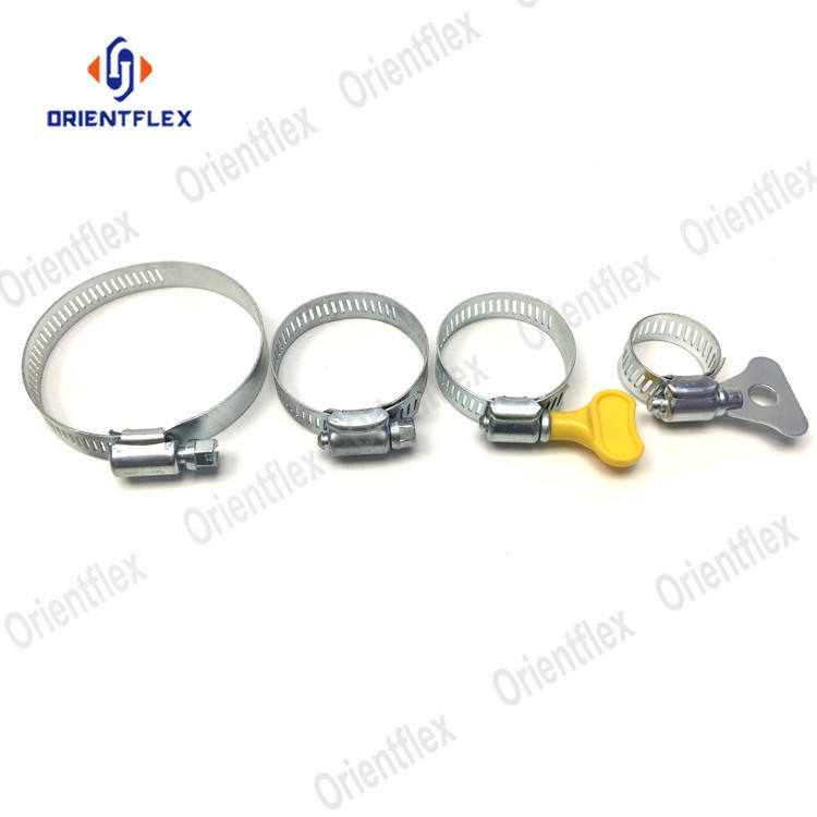10mm 25mm 50mm hose tightening clamp 100mm 150mm metal circular quick fuel gas hose clamp