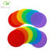 Colorful round nylon floor spot hook loop sitting carpet marker