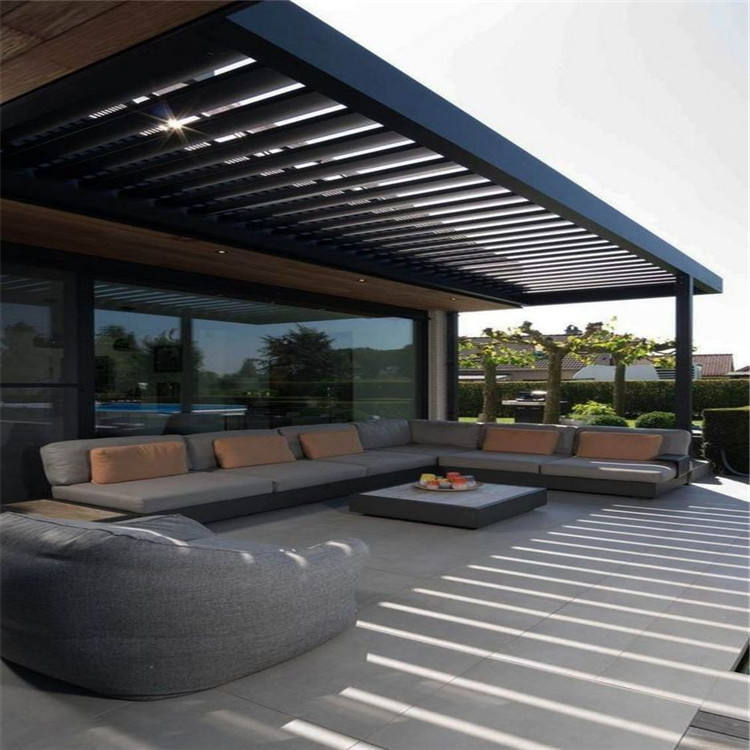 Topwindow Freestanding Aluminium Louvered Roof Garden Polycarbonate Aluminum Pergola With Polycarbonate Roof