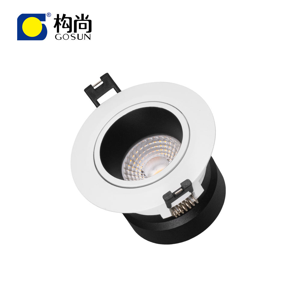 Led Downlight 8W-50W Ultra Anti Glare Smart Dimmable RGBCW Downlight Recessed Ceiling Spotlight COB LED Downlight For Hotel Home Restaurant