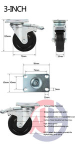 Weihang 3 inch ESD Caster Anti Static Conductive Caster Wheel for High-Grade Equipments