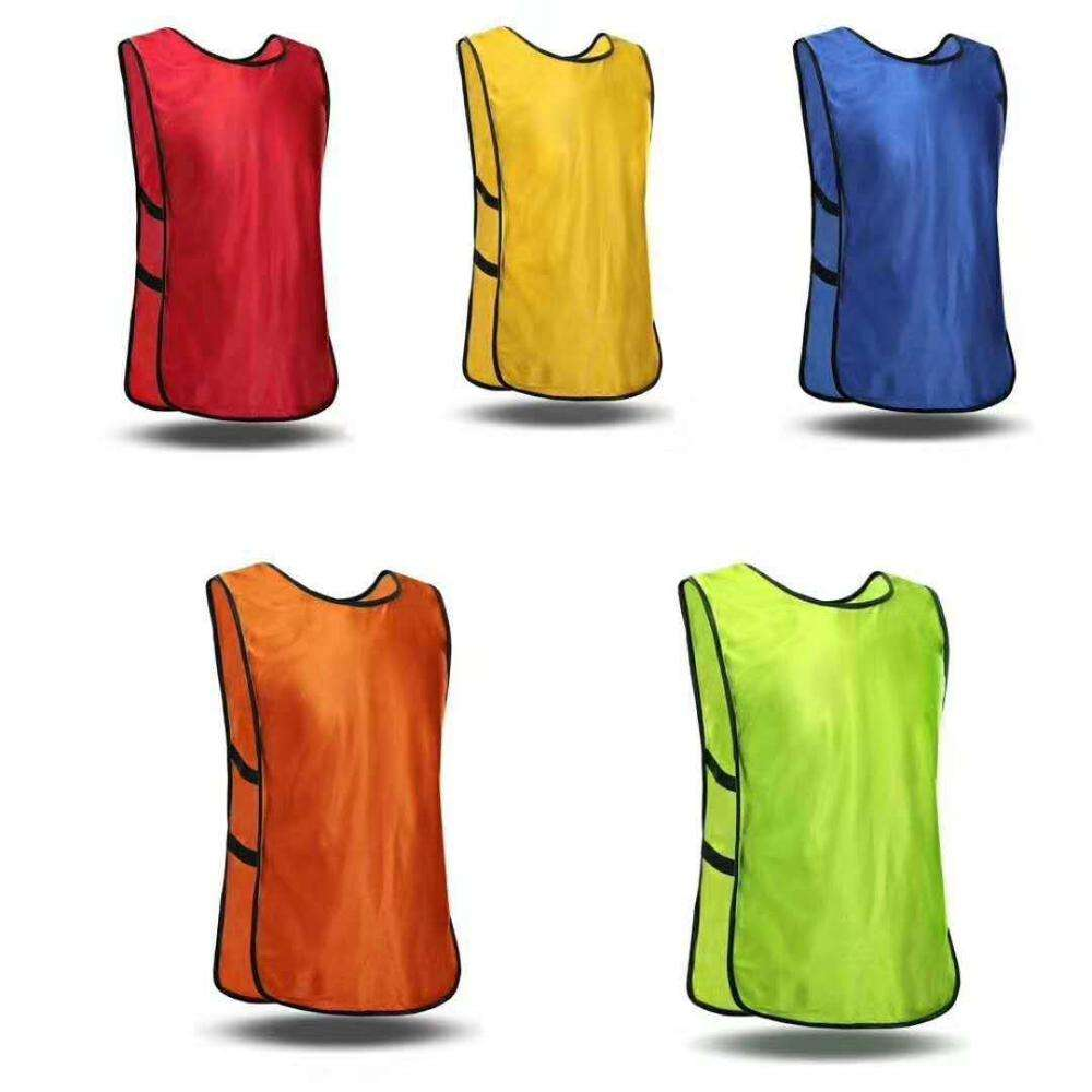 ActEarlier no logo sports wear black yellow green orange red blue pink football training mesh vests bibs soccer pinnies