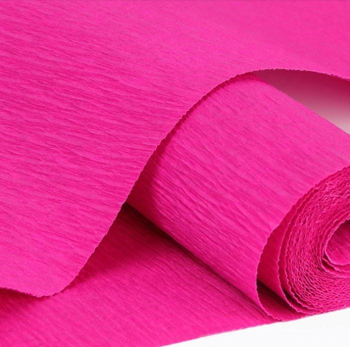 Craft color crepe paper neck paper raw material different color Wholesale cheap party decoration roll