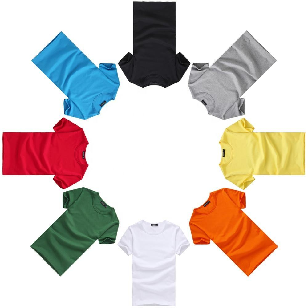 High-quality OEM 100%cotton clothes blank design common dyeing custom t-shirts with short sleeves