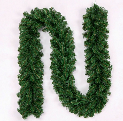 Special Artificial Green Plant Christmas PVC Pine Garland With Pine Cones For Door Decoration 1.8m To 20m