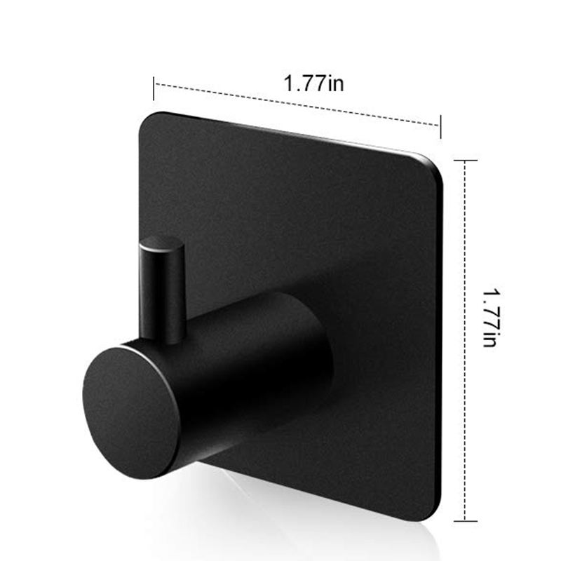 Popular Strong Adhesive Metal Adhesive Robe Towel Coat Wall Sticky Hook Self Adhesive Wall Hook