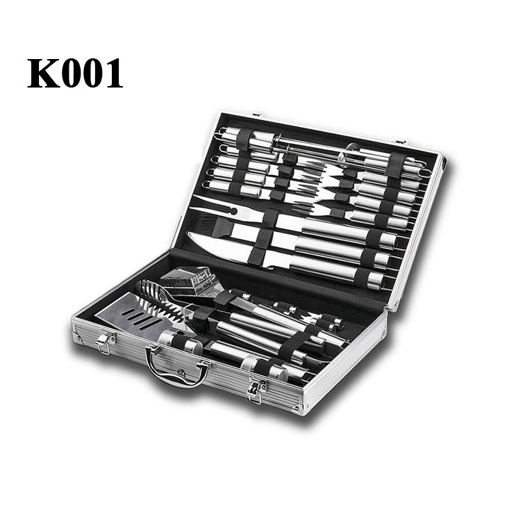 WB China Top Selling OEM Utensil Kit Multifunction Portable Outdoor BBQ Barbecue Grill Tool Set 13 Models