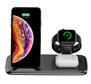 Amazon Top Seller 2020 Wireless Charging Station Docking Station 4 In 1 Fast Wireless Charger For Mobile Phone/Watch/Headset