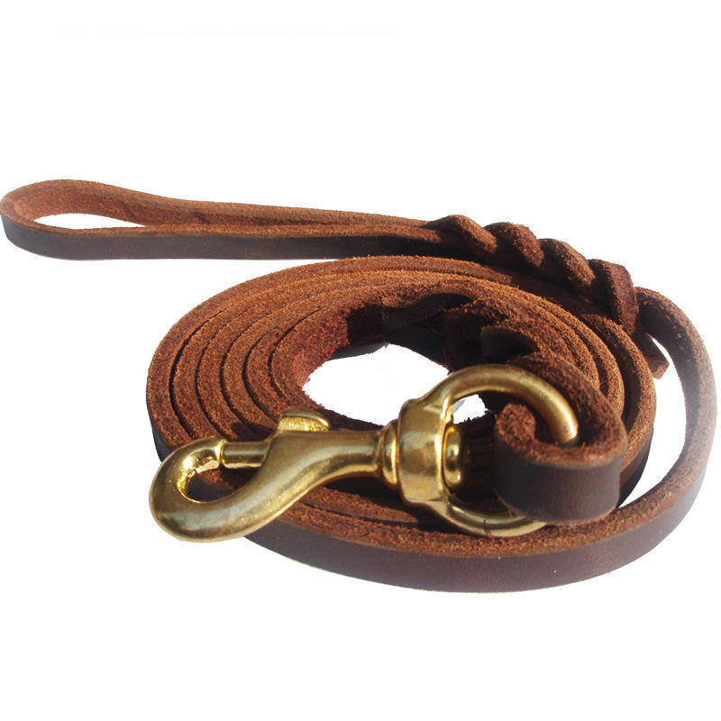 2020 new arrive real leather Luxury pet products Genuine Leather Pet Dog Leash