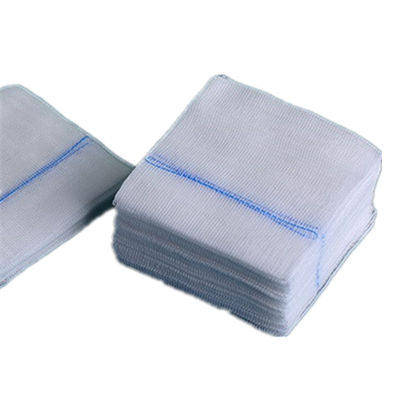 Medical disposable sterile gauze pad x-ray detectable gauze