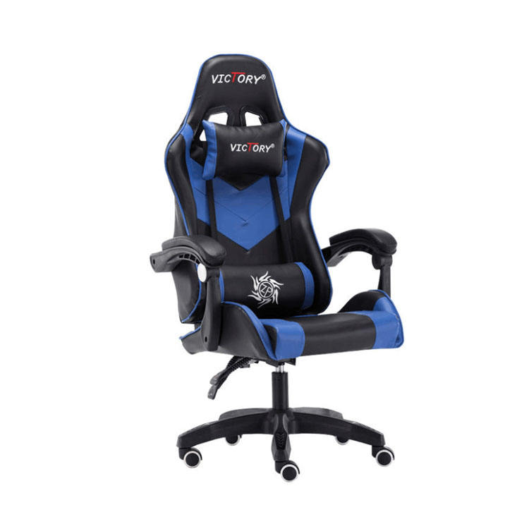 Blue Carbon Fiber Best Affordable Chair Gaming Modern Leather Swivel Metal Gaming Chair With Speaker