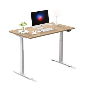 Dual Motor Electric Bamboo Adjustable Height Standing Desk Sit Stand Desk Stand Up Desk