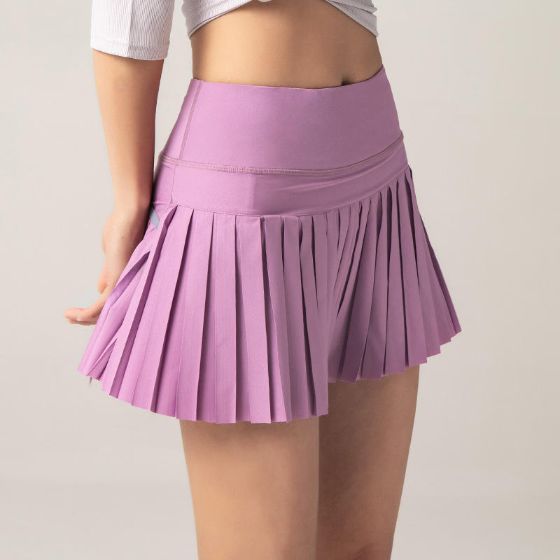 Advanced OEM Summer Sports Fitness Shorts Gym Pleated Skirt Golf Tennis Skirt with Pocket
