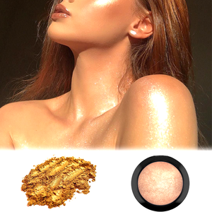 Maxshing Cosmetic Mica Pearl Metallic Pigment Highlighter Makeup Face Loose Gold Highlighter Powder