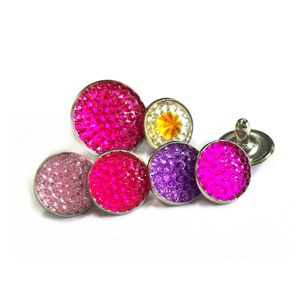 Wholesale metal jewel rhinestone decoration rivets shoe charms for women shoes