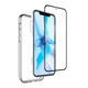 Shockproof 2.5D Screen Protector Transparent TPU PC Case Phone Mobile Back Cover for iPhone 7 8 X XS Max 11 12 Pro
