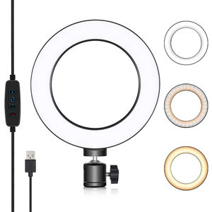 Live Stream and YouTube Video 12 Inch LED Selfie Ring Light with Tripod Stand Cell Phone Holder