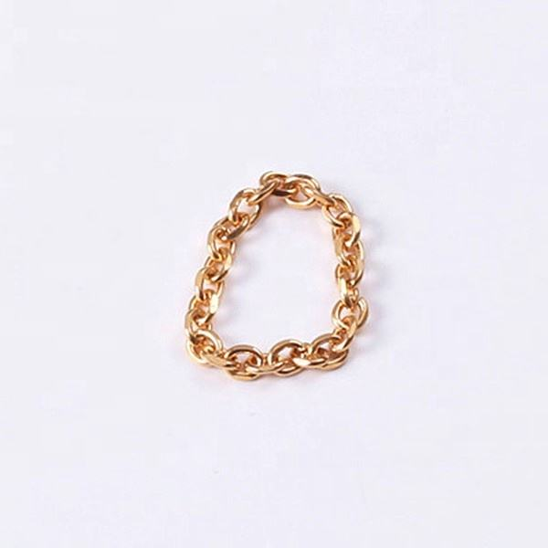 Women 18 18k Gold PVD Plating Stainless Steel Minimalist Chain Pinkie Ring