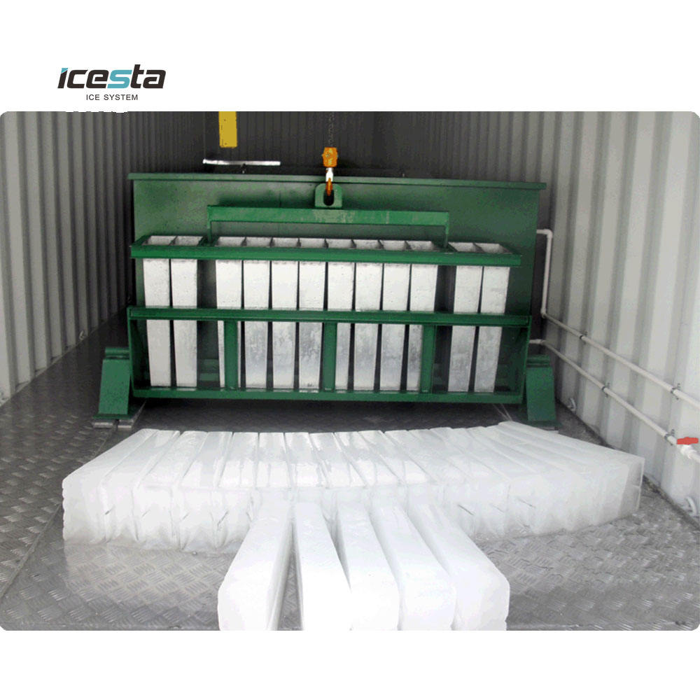 Icesta 10 30 50 Ton Wadah Block Ice Machine dengan Cold Room Tanaman Mobile
