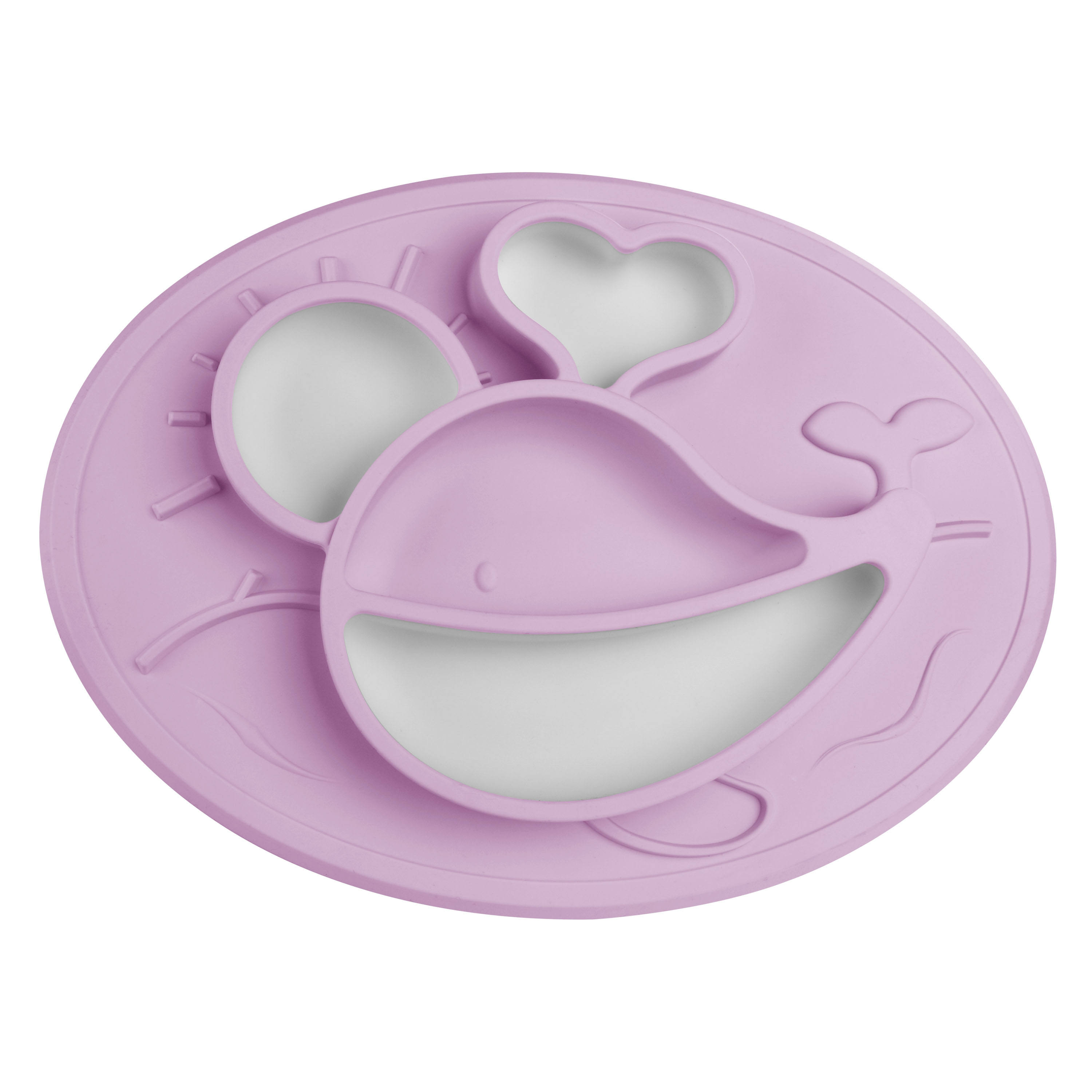 Silicone Plate Baby Lovely Rabbit Shape Kids Dinner Plate Set