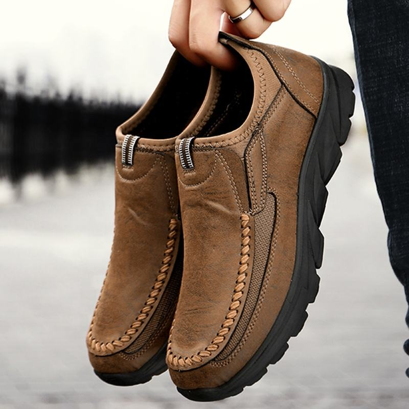 Chine fournisseurs chaussures mode casual en cuir mocassins chaussures hommes