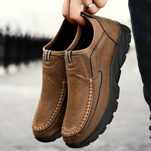 China suppliers footwear fashion casual leather loafer shoes men