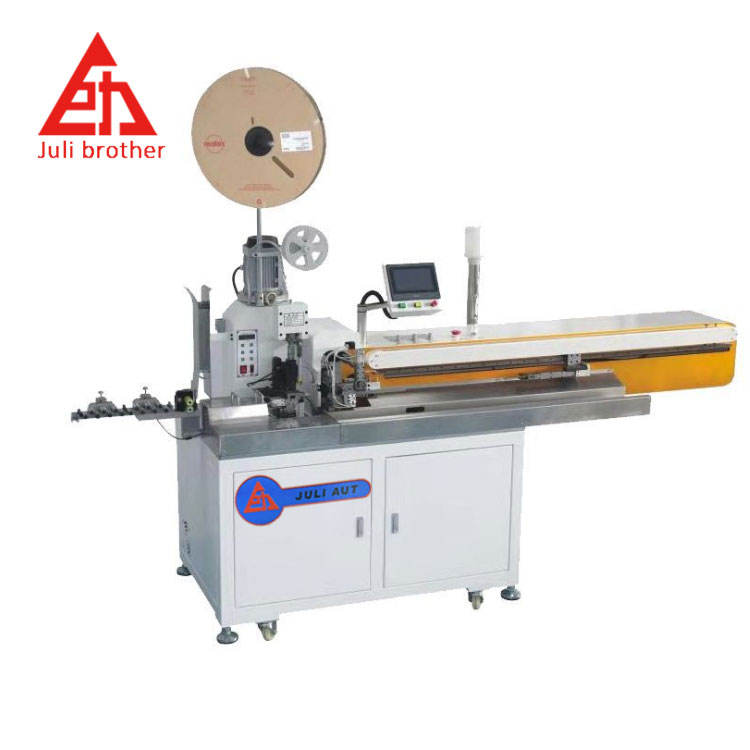 Fully automatic five-wire single-head wire cutting stripping twisting terminal machine single-head wire dip tin machine
